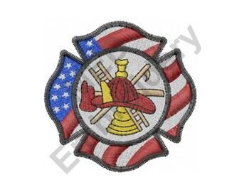 firefighter crest etsy
