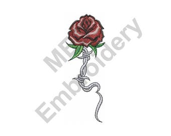 Barbed Wire And Roses | Barbed Wire Rose Etsy