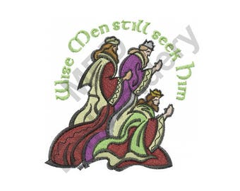 Three Kings - Machine Embroidery Design, Wise Men