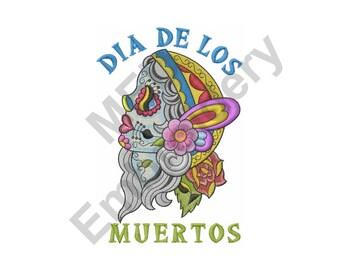 Dia De Los Muertos - Machine Embroidery Design, Day of the Dead