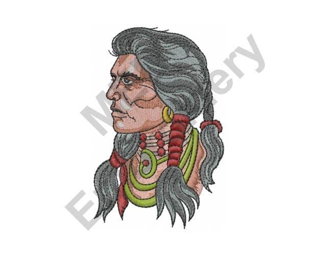 Mujer diseño de máquina del bordado indígena indio | Etsy