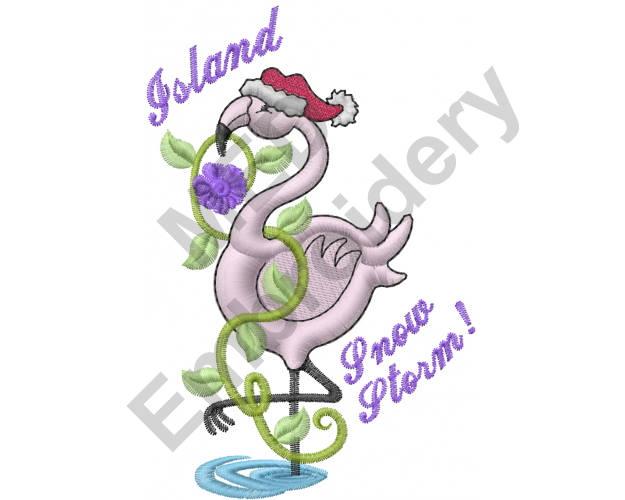 Flamingo diseño de máquina del bordado Navidad sombrero de | Etsy