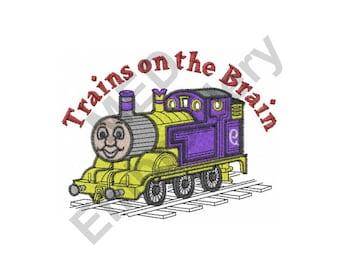 Train - Machine Embroidery Design, Cute Train, Trains On The Brain