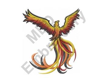 Bird - Machine Embroidery Design, Phoenix