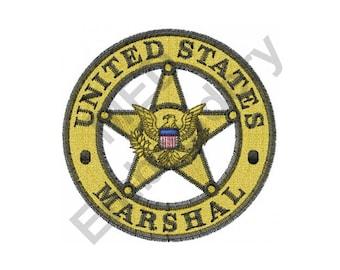 U.S. Marshal - Machine Embroidery Design