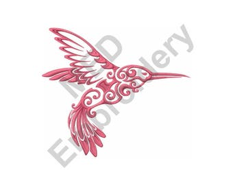 Bird - Machine Embroidery Design, Hummingbird