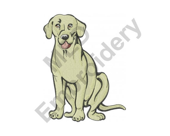 Dog - Machine Embroidery Design, Labrador Retriever, Machine Embroidery, Embroidery Designs, Embroidery Patterns, Embroidery Files