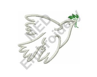 Bird - Machine Embroidery Design, Dove