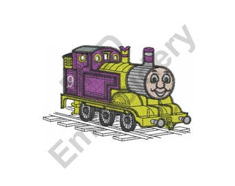Train - Machine Embroidery Design, Number 9