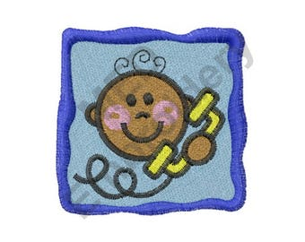 Baby - Machine Embroidery Design, Telephone, Phone Call