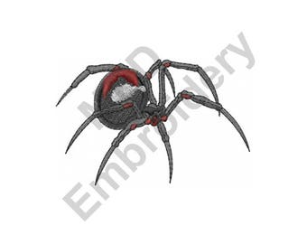 Spider - Machine Embroidery Design, Black Widow, Black Widow Spider