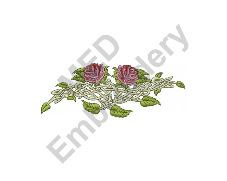 Roses - Machine Embroidery Design, Celtic Rose Vine, Machine Embroidery,  Embroidery Designs, Embroidery Patterns, Embroidery Files