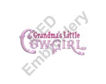 Cowgirl - Machine Embroidery Design, Grandmas Little Cowgirl