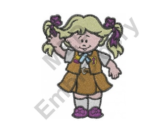Brownie Scout - Machine Embroidery Design, Girl, Scout