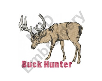 Hunting - Machine Embroidery Design, Deer Hunting, Buck Hunter
