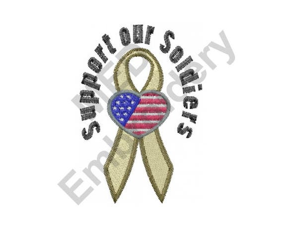 Support Soldiers Machine Embroidery Design Military Support Etsy