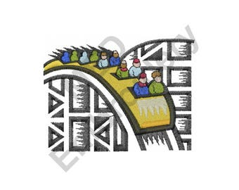 Roller Coaster - Machine Embroidery Design