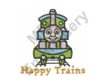 Train - Machine Embroidery , Thomas the Train