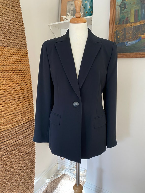 Vintage 90s menswear style oversized blazer / Mini