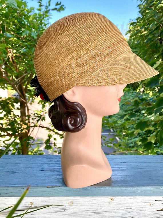Vintage Patricia Underwood designer straw hat / S… - image 9