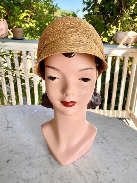 Vintage Patricia Underwood designer straw hat / S… - image 7