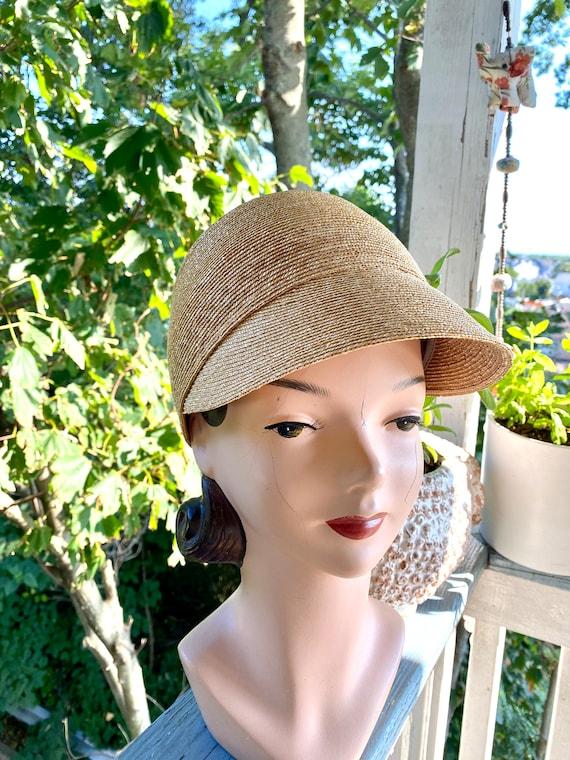 Vintage Patricia Underwood designer straw hat / S… - image 4