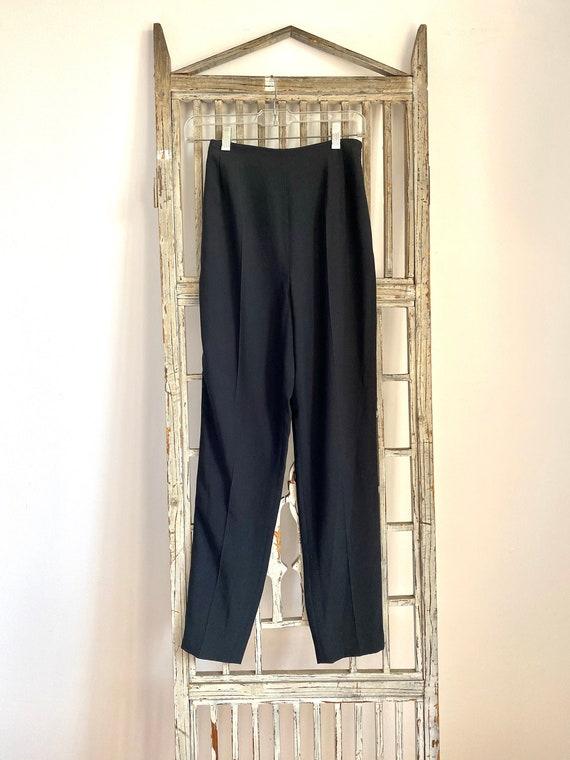 Vintage Christian Dior Black Tuxedo pants / size 3