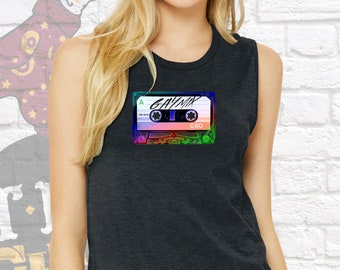 Gay, Gay Pride, Lesbian, Gay Mix Muscle Tank, Mix Tape, Retro, Cassette Tape, LGBT, LGBTQ, Pride, LGBT Pride, Gay Rights, Pride Parade,Trans