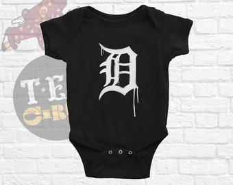 Detroit Tigers Baby, Tigers, Tigers Graffiti, Detroit Tigers Infant Bodysuit, Detroit Baseball, Tigers Baby, Tigers Bodysuit, Tigers Shirt