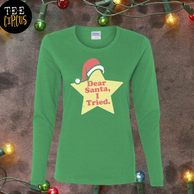 Cara Santa..adult Umorismo Manica Lunga T-shirt b6oy67Blh