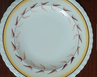 Antique Metlox Poppytrail Arcadia Lugged Cereal Rare NEW old stock 4 bowls included HTF Metlox China Galore