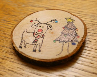 Rudolph and Christmas tree