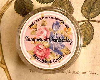 Summer at Pemberley Solid Perfume | Essential Oils | Literature Gifts | Jane Austen | Pride and Prejudice | Party Favor | Stocking Stuffer