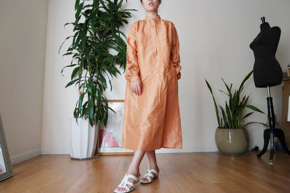 Jim Thompson thai silk dress / Copper dress / Mini