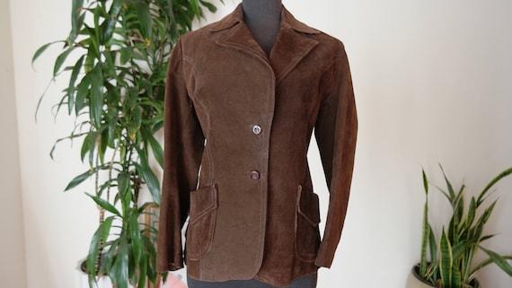 70s Leather suede Jacket / Bulgarian Leather Jacke