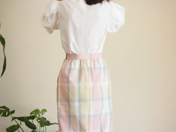 Pastel Prairie Skirt / Vintage Midi Skirt / Paste… - image 9