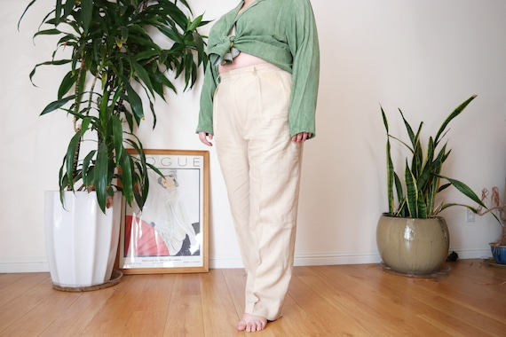 Ralph Lauren Polo Linen Trouser / Cream Linen Trou