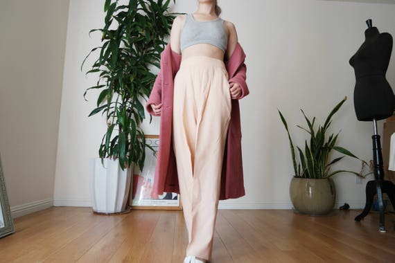 80s wool trouser / high waisted wool trouser / vin