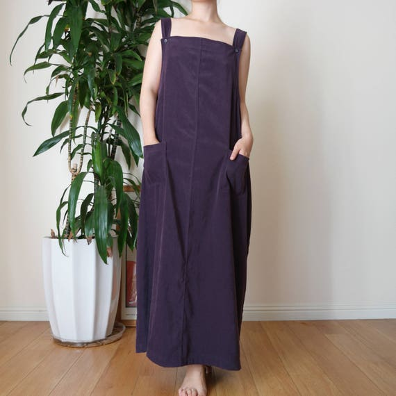Long Overall Dress / Long Simple Suspender Dress /