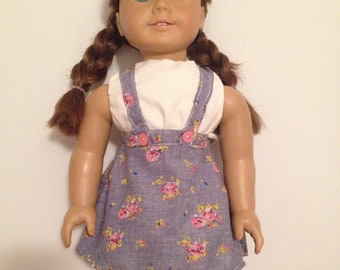 18 inch doll overall dress