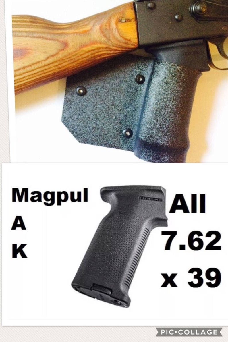 Featureless California Fin Grip Magpul K2 AK 47 WASR Kydex Wrap Legal  Compliant 7 62x39 7 62 California Grip Free Shipping Shark Fin ny
