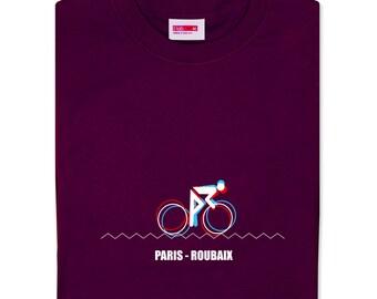 b7a8b7b23a T-lab Paris-Roubaix burgundy red tshirt, mens cycling tshirt, gift for  cyclists, cycling t shirt gift for him, Fathers Day gift for cyclists