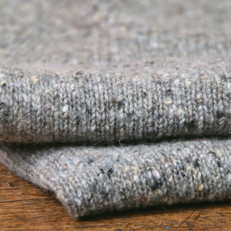grey Scottish men/'s sweater T-lab Coll Granite Donegal Wool Jumper Donegal wool knitwear gift for him UK gift for men