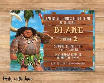 Maui invitation Etsy