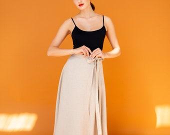 e0ff9593e2 Linen skirt | Linen wrap skirt | Linen maxi skirt | Stonewashed linen skirt  | Natural color linen skirt | Beige skirt | Linen skirt Laurel