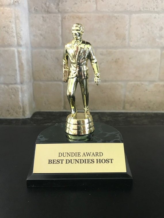 Whitest Sneakers Dundie Award Trophy The Office TV Show Michael Scott Dunder Mifflin Paper Company Gift Idea Fan Prop Dundee Dundees