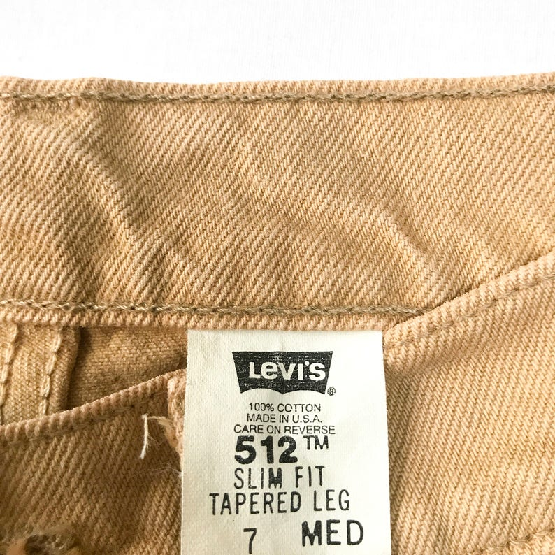 756b1efb3c7 80s 90s Levi's Mom Jeans Levi's 512 Sand Camel Beige | Etsy