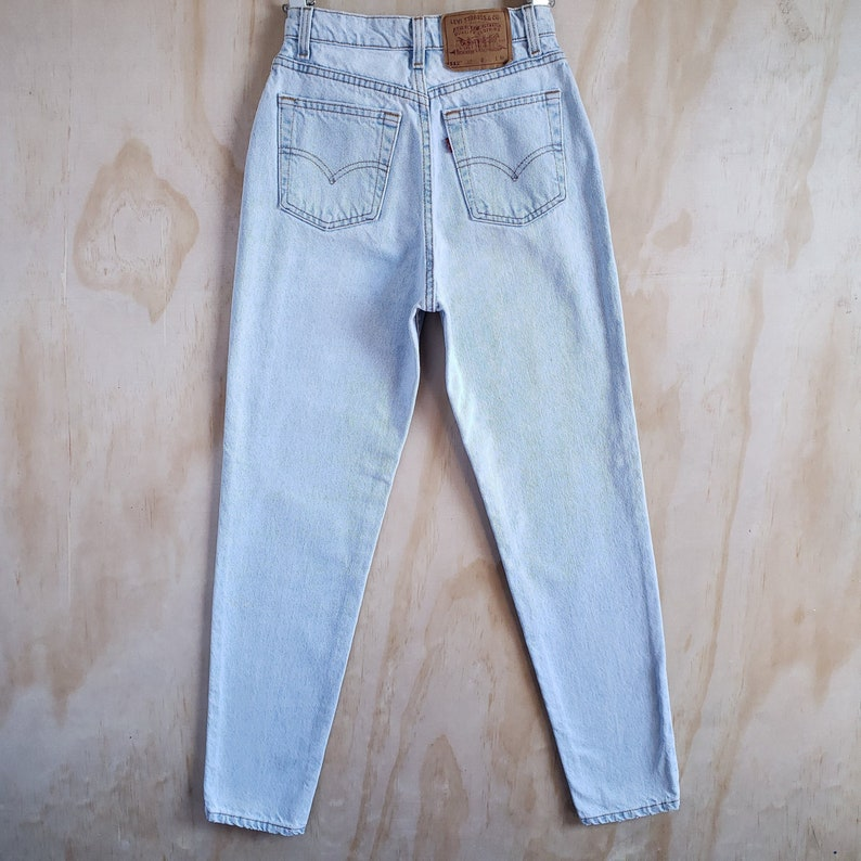 Vintage Levi's 512 High Waist Slim Fit Tapered Leg Jeans in Pale Light Wash, Item#0133