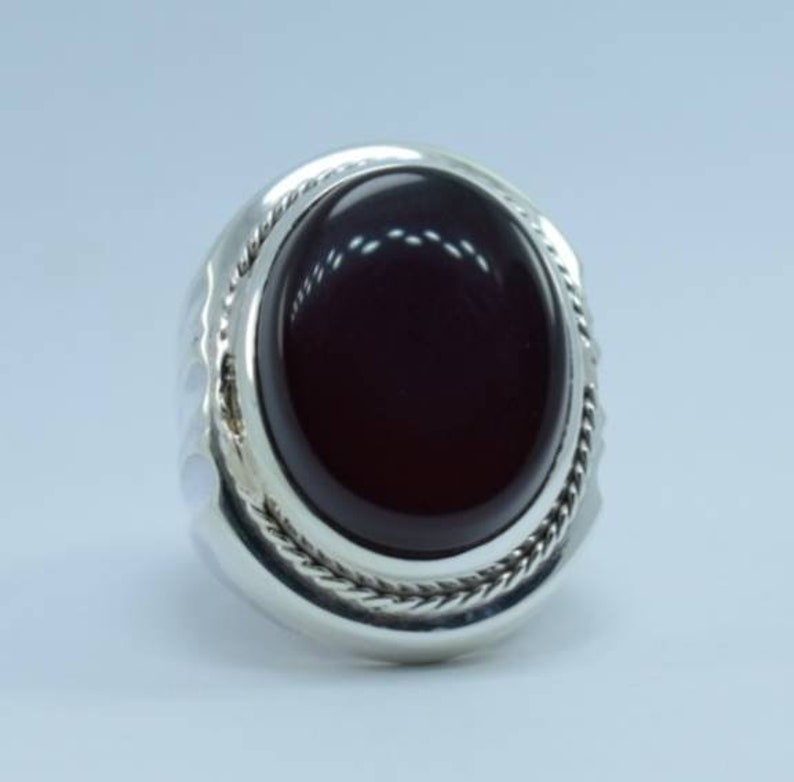 Big Kabadi Black Aqeeq Ring Yemeni Aqeeq Ring for Men Mens Yameni Aqeeq Ring Black Aqeeq agate Ring Akik Ring Shia Rings Sterling Silver