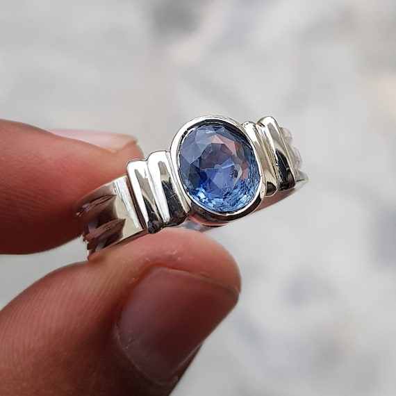 Natural Ceylon Blue Sapphire Sterling silver ring or custom 14kg fine jewelry size 4 5 6 7 8 9 10